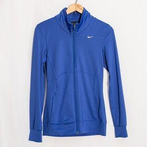 Nike Dri-Fit Solid Blue Track Jacket XS